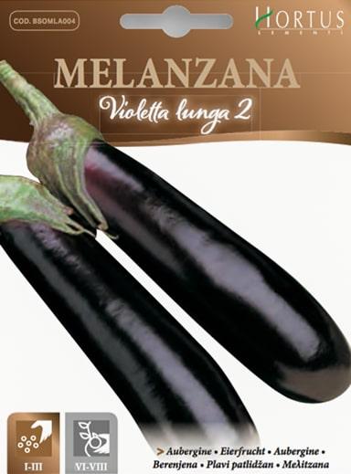 Melanzana violetta lunga
